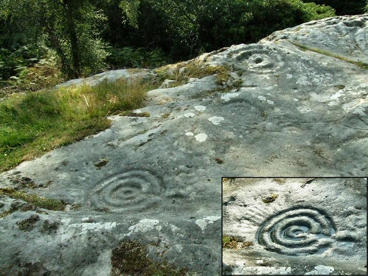 Roughting linn carved rock art northumberland